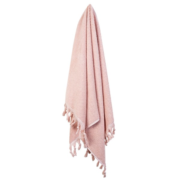 Turkish Cotton Tassel Towel Bath Towel - Pink