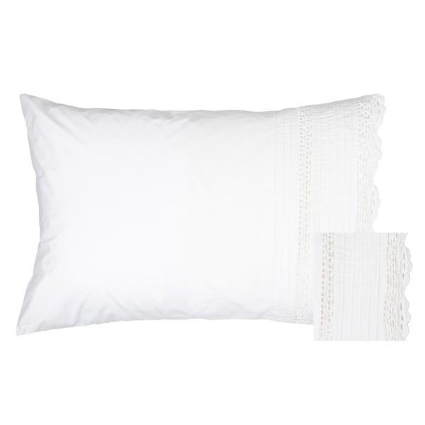 Classic Crochet Cotton Pillowcase Pair