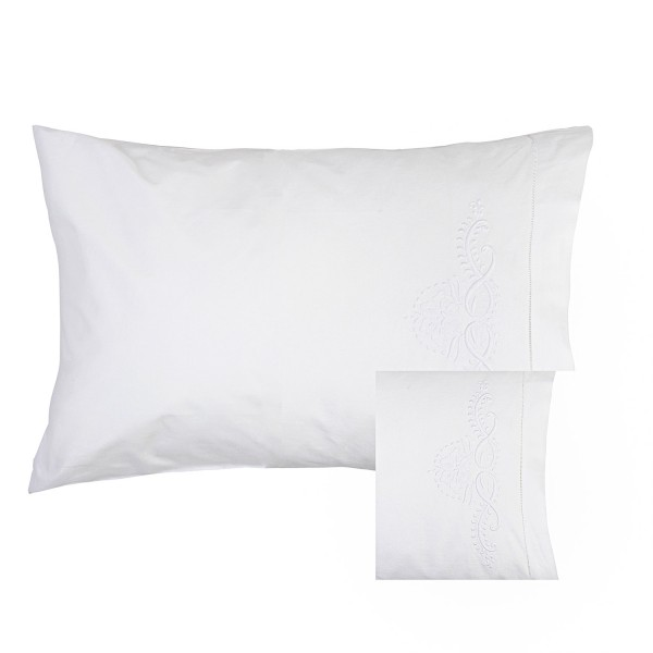 Embroidery Hemstitch Pillowcase Pair