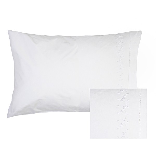 Floral Embroidery Pillowcase Pair