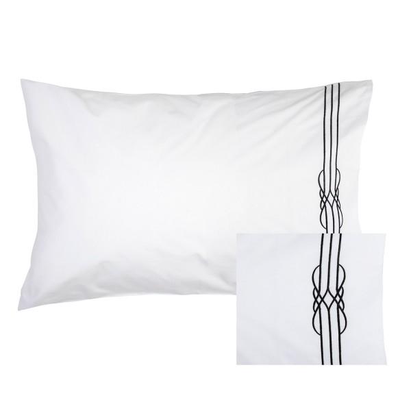 Deco Black Embroidery Pillowcase Pair