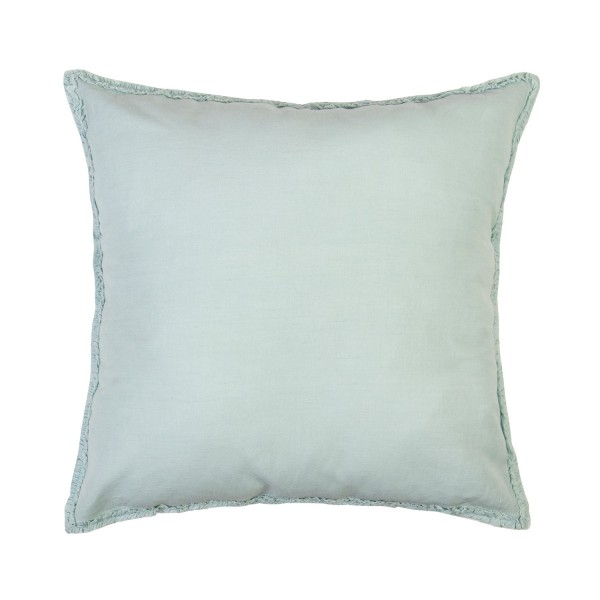 Frances Light Blue Square Cushion with Feather Inner