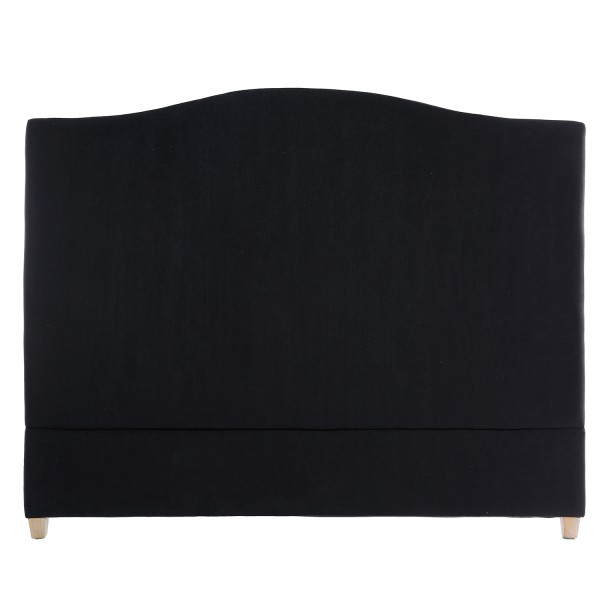 Annabel Linen Headboard Black