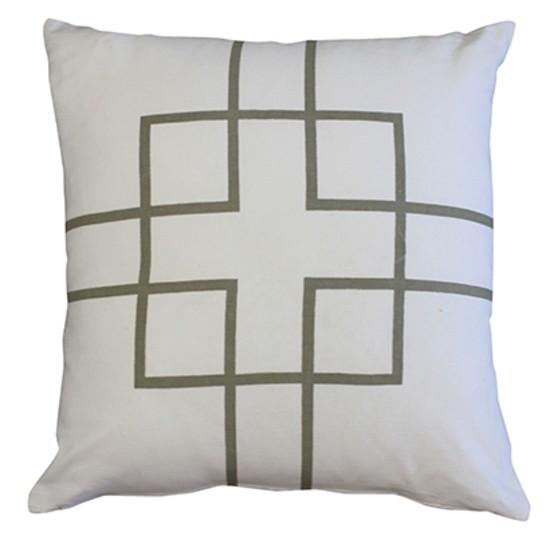 Mulberi Rockefeller Cushion - Silver/White