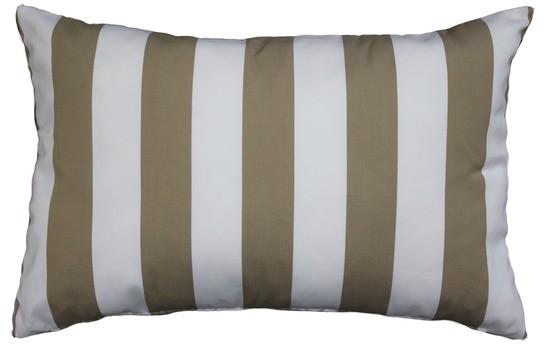 Mulberi Resort Stripe Indoor/Outdoor Sand Lover's Beige Long Cushion