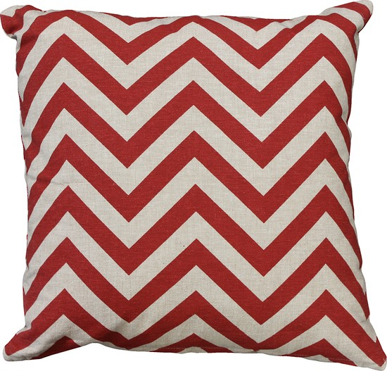 Limon Metro Zig Zag Beige/Red Cushion