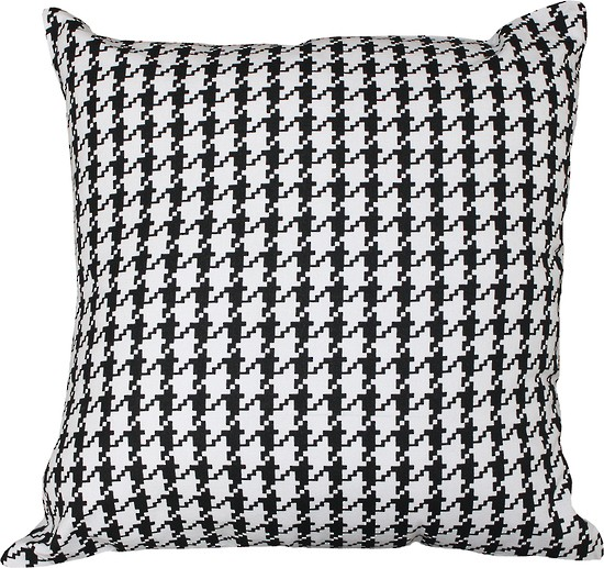 Limon Metro Houndstooth Black/White Cushion