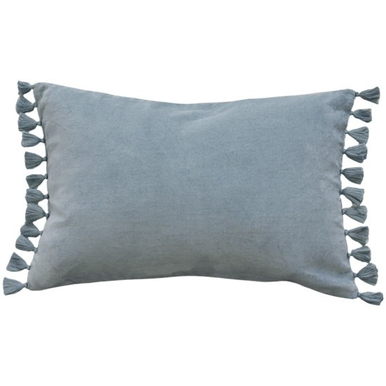 Mulberi Este Duck Egg Cotton Velvet Cushion