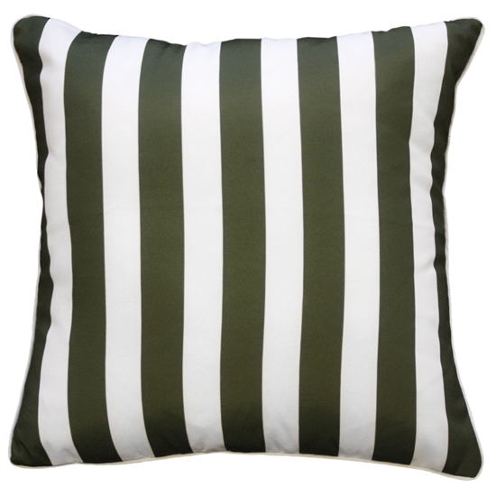 Limon Branch Stripe In & Outdoor Spruce Cushion