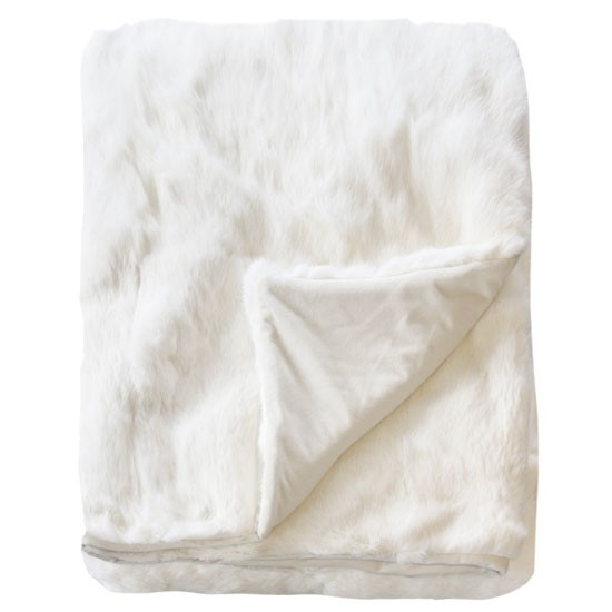 Collezióne Rabbit - Natural White Throw