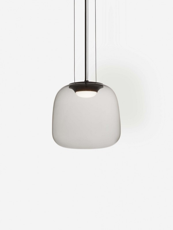 Smoke Grey Pendant Light Small