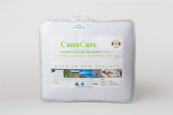 100% Natural Bamboo/ Wool Duvet by CanaCare - NZ Made