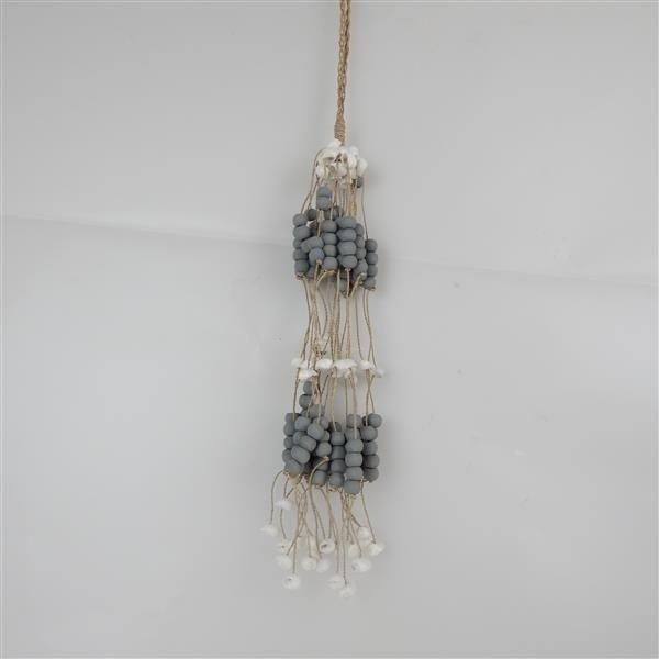 Bead/Shell Hanging Bundle Grey
