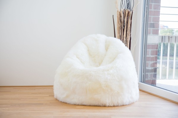 Longwool Sheepskin Bean Bag  - Ivory