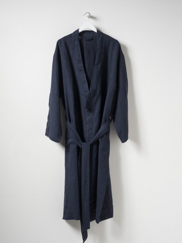 Beau Men's Linen Dressing Gown