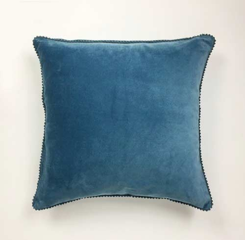Blue Stone Velvet Cushion