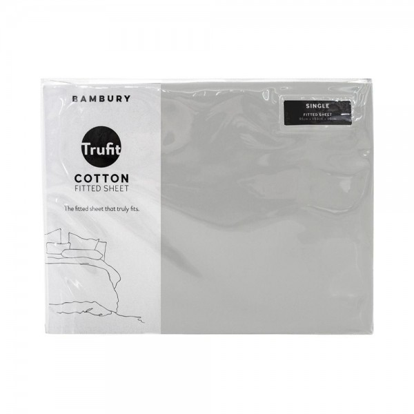 Trufit Fitted Sheets by Bambury - Silver