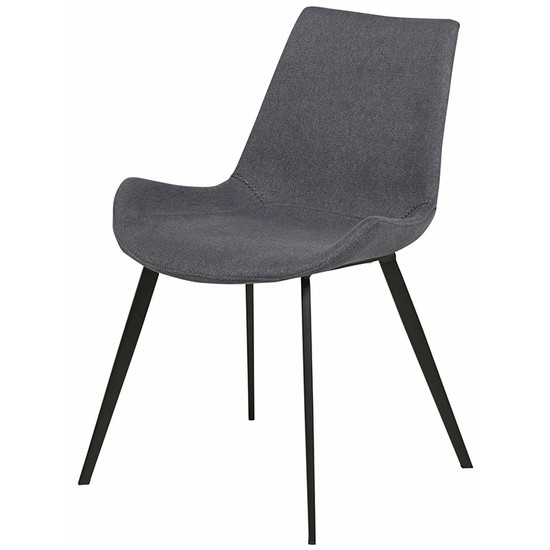 Cleo Dining Chair Black/Gunmetal