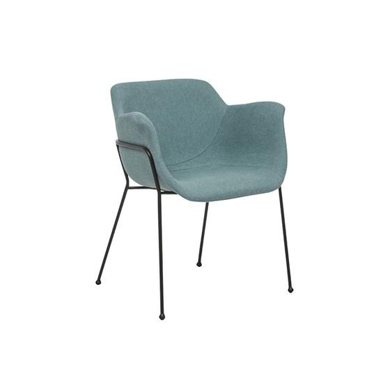 Etta Arm Chair Black/Teal