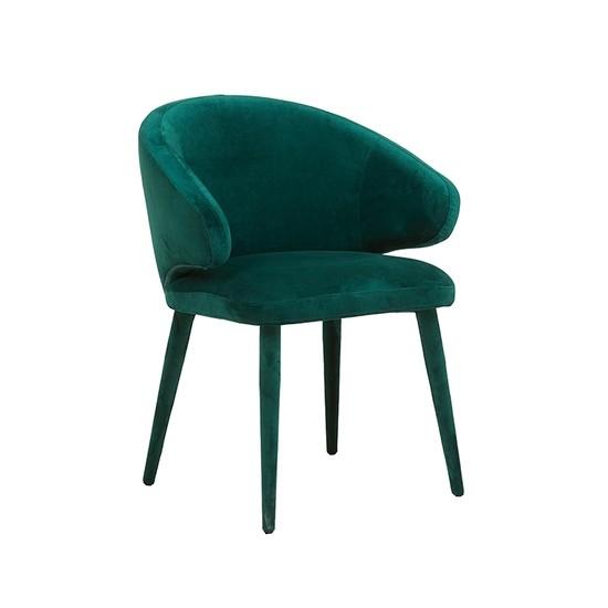 Freya Arm Chair Dark Green Velvet