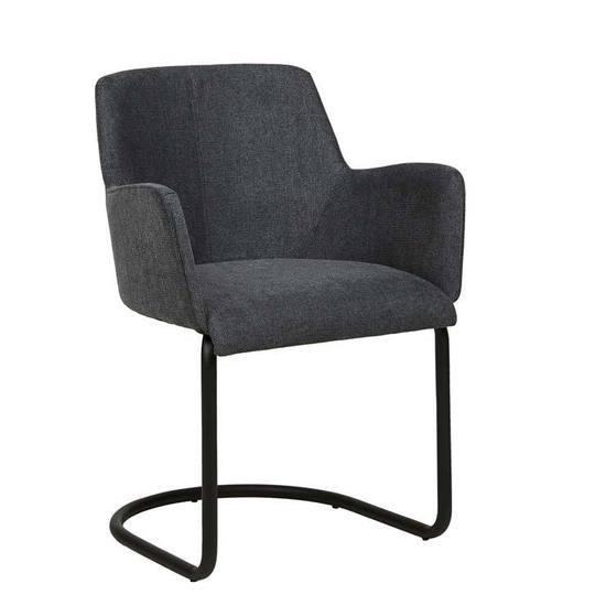 Joy Arm Chair Charcoal Metal