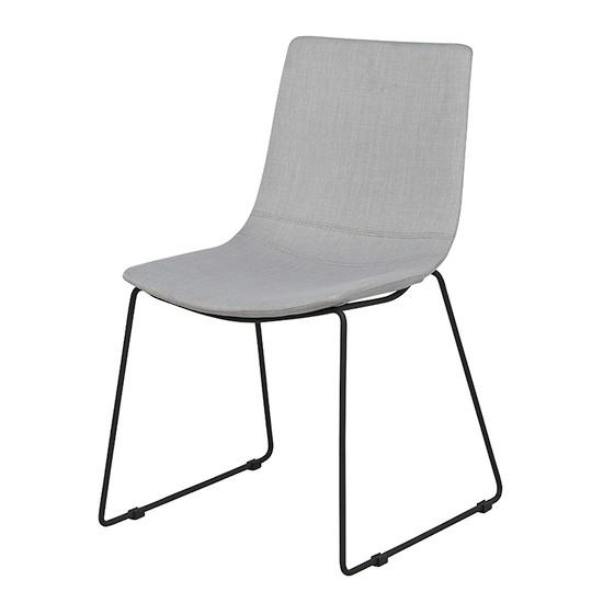 Levi Dining Chair - Black/Pearl Grey
