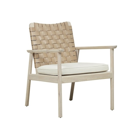 Seed Leather Occasional Chair