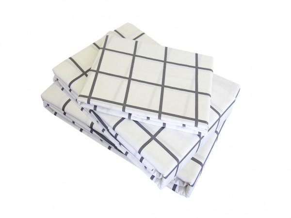 Charcoal Square Sheet Set