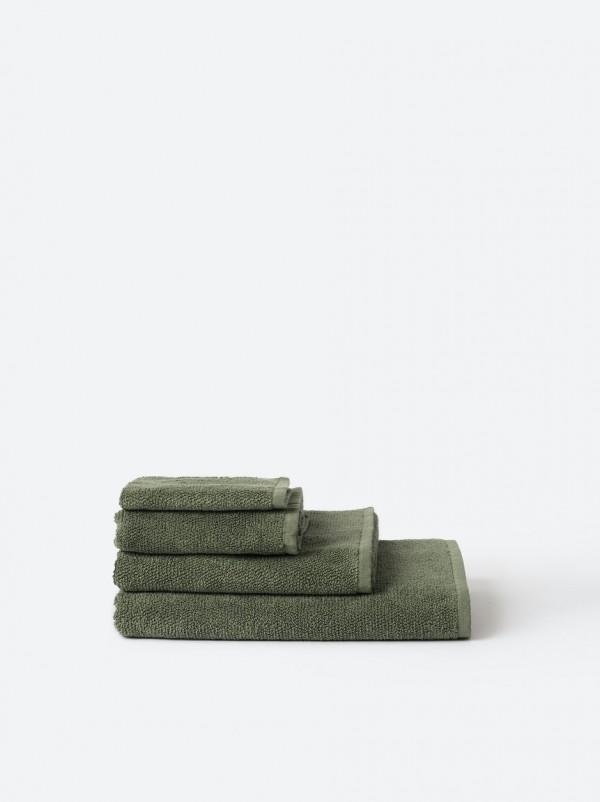 Classic Organic Cotton Towels - Olive