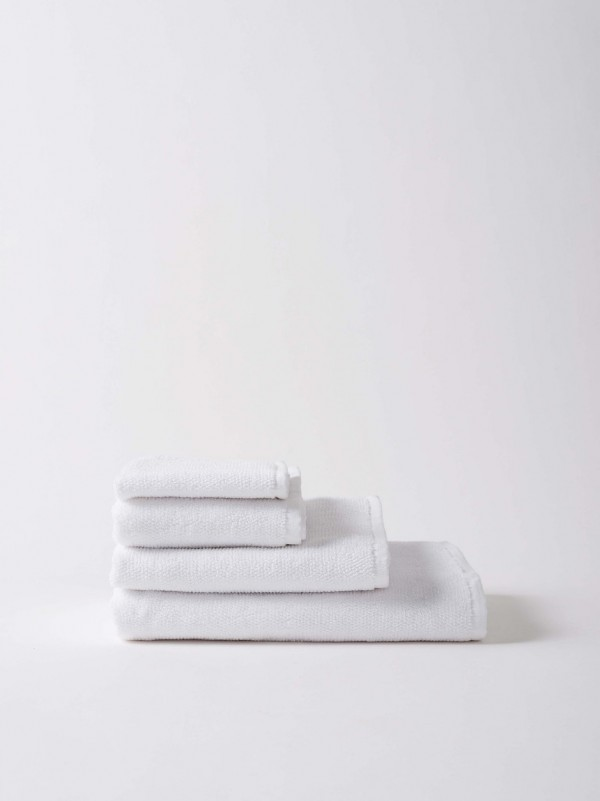 Classic Organic Cotton Towels - White