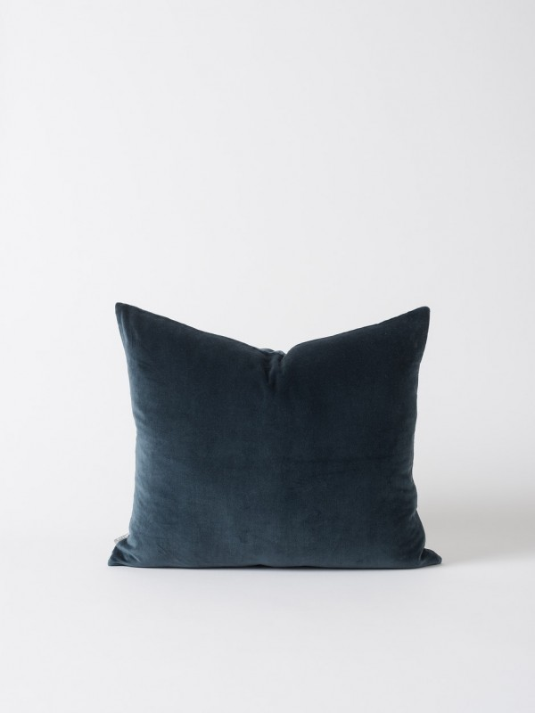2 Pack Cotton Velvet Cushion Cover - Midnight