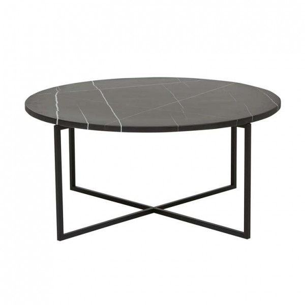 Elle Luxe Small Coffee Table - Black/Black