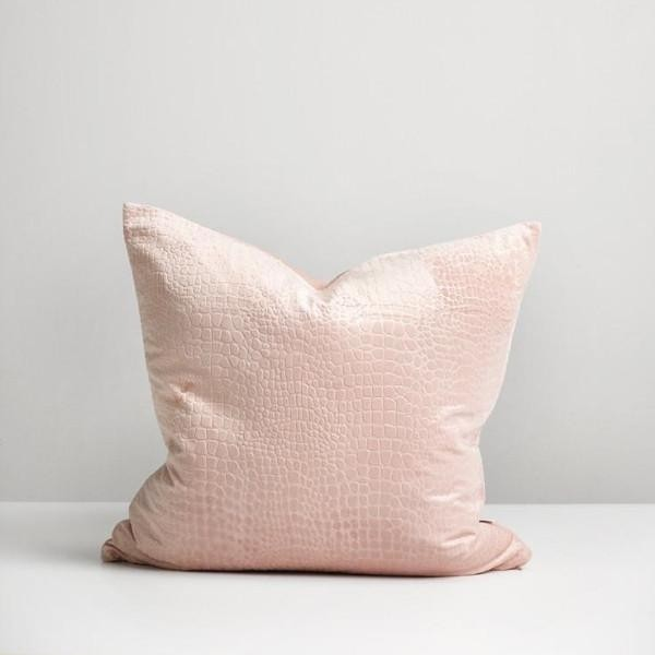 Blush Croc Cushion