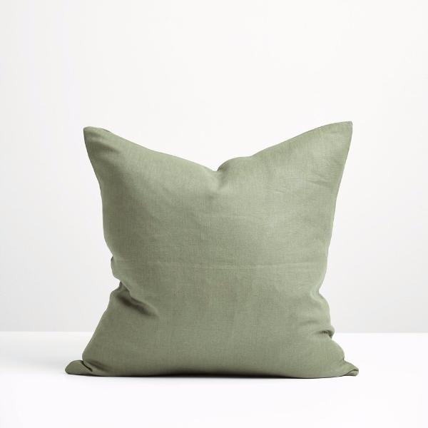 Sage Green Linen Cushion