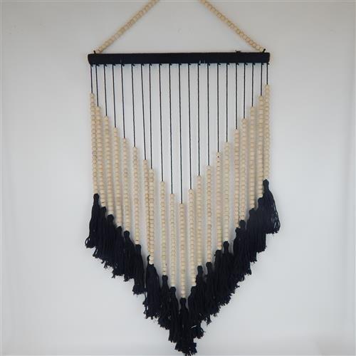 Tassel Hanging Large Natural/Black