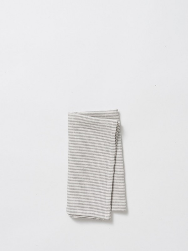 Dine Stripe Linen Napkin - 12 Pack