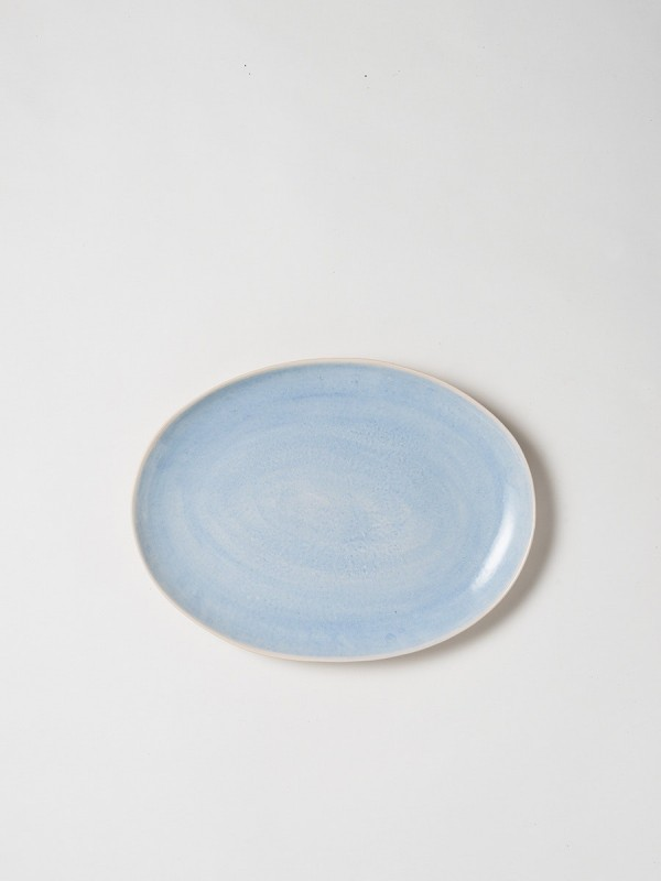 Finch Oval Platter Blue/Natural - Set of 2