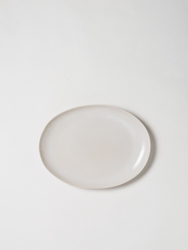 Finch Oval Platter White/Natural - Set of 2