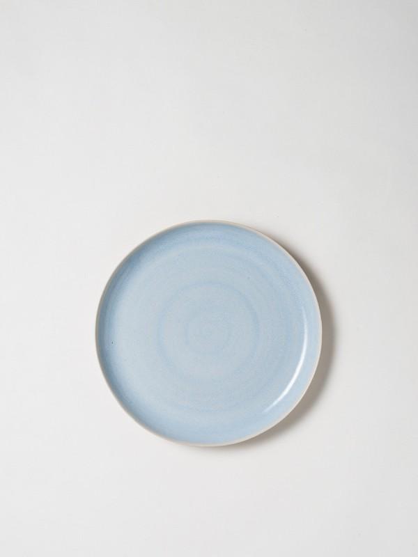 Finch Round Platter Blue/Natural Set of 2