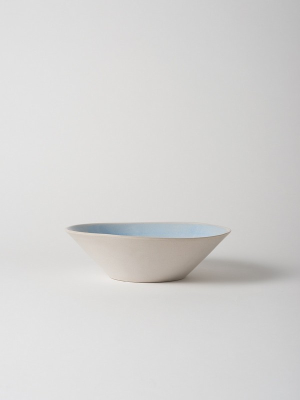 Finch Salad Bowl Blue/Natural Set of 2