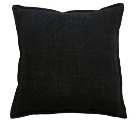 Mulberi Flaxmill 100% Linen Black Cushion