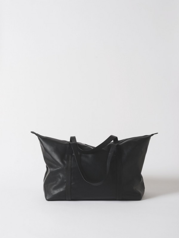 Frank Leather Duffle Bag - Black