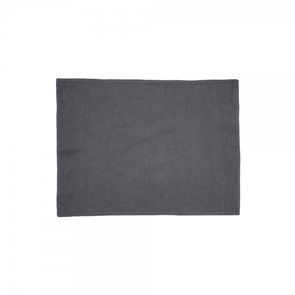 Charcoal French Linen Placemat by Bambury - 4 Pack