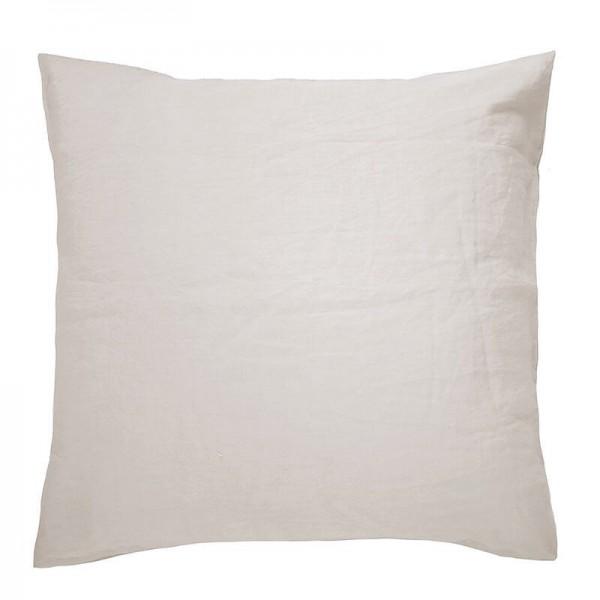 100% French Flax Linen Euro Pillowcase by Bambury - Pebble