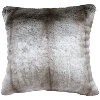 Heirloom Silver Marten Faux Fur Long Cushion