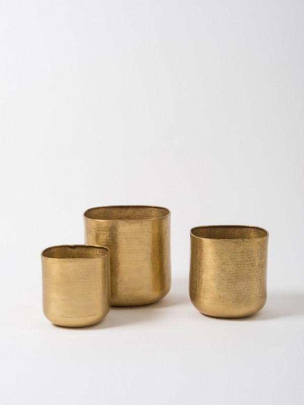 Gava Grande Planter Set of 3 - Antique Brass