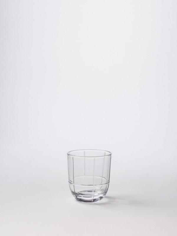 Glass Grid Tumbler Clear - Set of 8
