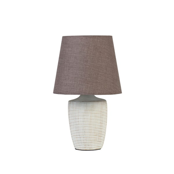 Lattice Lamp with Dark Grey Shade - Set of 2