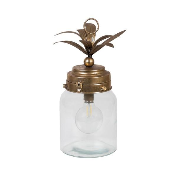 Metal Palm Leaf Lantern Large