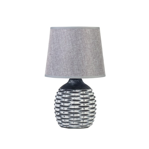 Honeycomb Lamp with Grey Shade